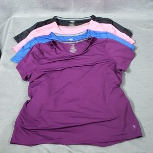 Danskin Now XL Semi-Fitted Athletic Top Lot Of 4